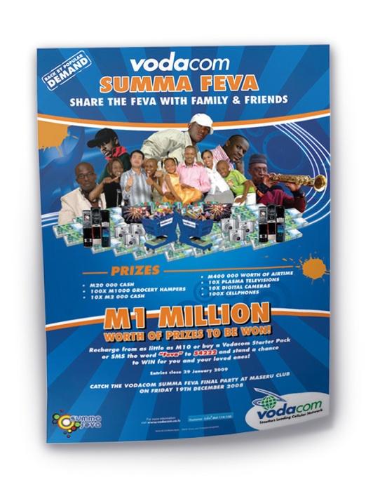 Vodacom 1M prizes poster curl